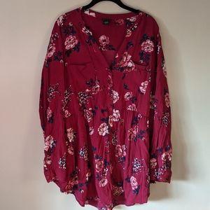 Torrid magenta floral top
